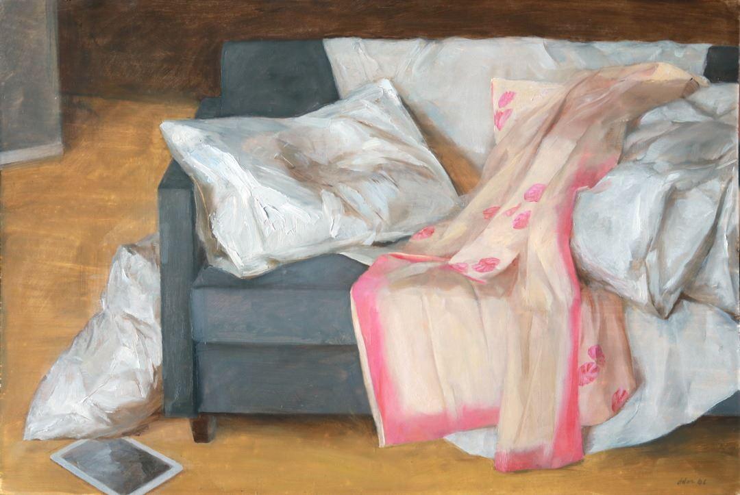Andrew Conklin Kimono on a Couch